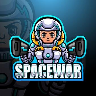 Espaço guerra homem mascote esport