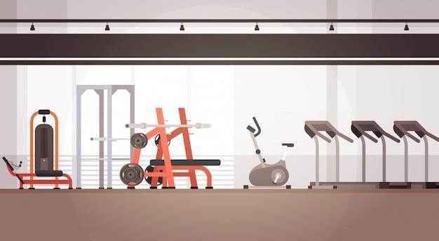 Espaço interior da cópia do equipamento do exercício do gym do esporte