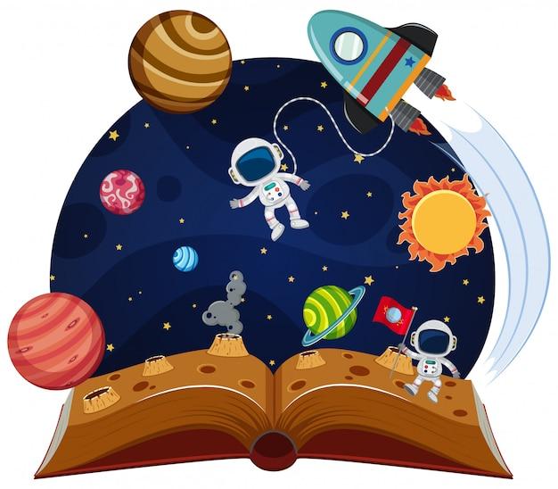 Espaço tema pop up livro