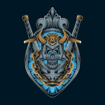 Espada crânio viking