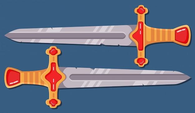 Espada medieval. desenho de arma de jogo