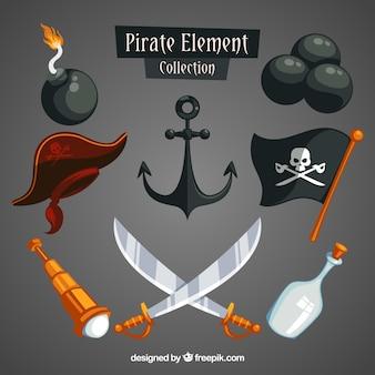 Espadas e elementos piratas