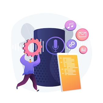 Espalhe várias mídias. escolha das configurações do menu móvel. gerenciar arquivos, organizar registros, entregar conteúdo. pasta do smartphone. distribua multimídia. ilustração em vetor conceito metáfora isolado.