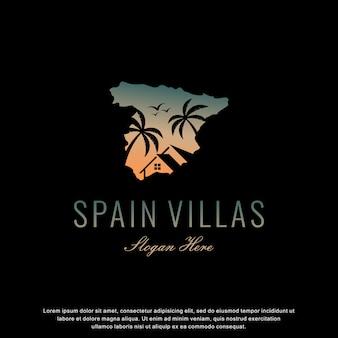 Espanha villas logotipo design moderno