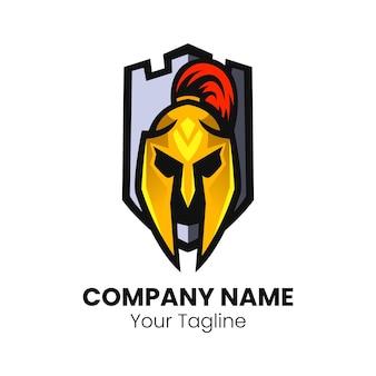 Esparta cabeça mascote logotipo esporte projeto vetor