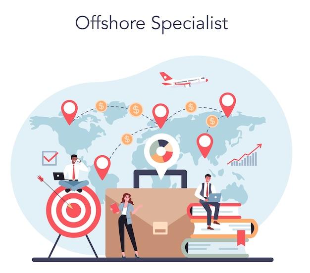 Especialista offshore ou conceito de empresa