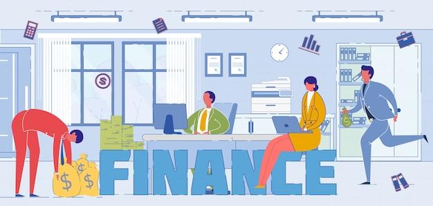 Especialistas sistema financeiro palavra conceito banner
