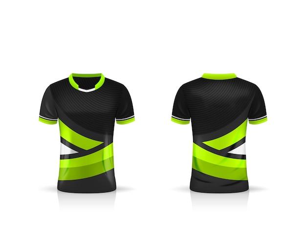 Especificação esporte de futebol, modelo esport gaming t shirt jersey. mock up uniforme. desenho de ilustração vetorial