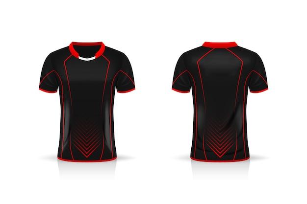 Especificação futebol esporte camiseta camisa design de ilustração de modelo