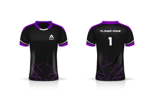 Especificação futebol esporte, esports gaming t shirt jersey modelo. uniforme.