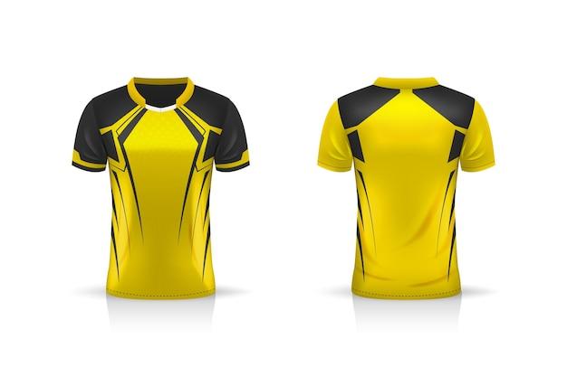 Especificação futebol esporte, esports gaming t shirt jersey modelo.