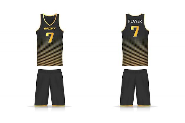 Especificação jersey de basquete