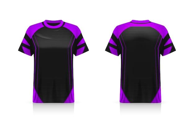 Especificação maquete de esporte de futebol, modelo esports gaming t shirt jersey. mock up uniforme. desenho de ilustração vetorial