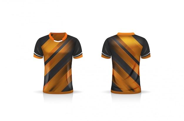 Especificação soccer sport, esport gaming t shirt jersey template. uniforme.