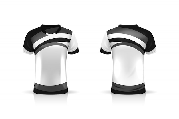 Especificação soccer sport, esports gaming t shirt jersey template. uniforme. projeto de ilustração