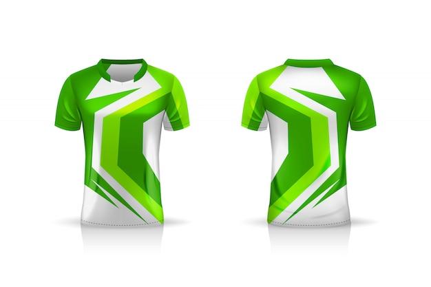 Especificação soccer sport, esports gaming t shirt jersey template. uniforme. projeto de ilustração Vetor Premium