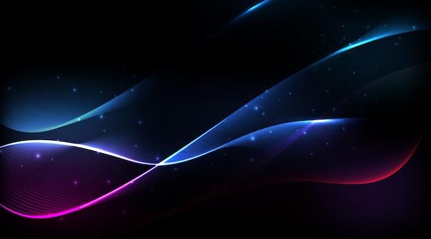 Espectro abstrato de linhas curvas fundo