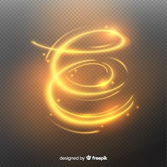 Espiral brilhante dourado