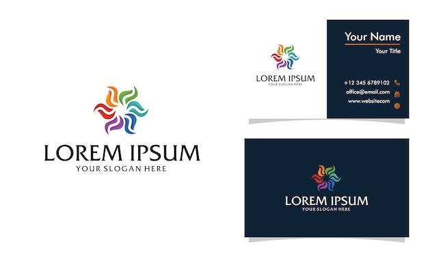 Espiral colorida e design abstrato de logotipo em espiral, modelo de logotipo redondo moderno