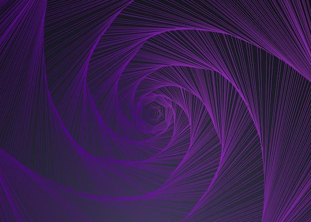 Espiral de fundo abstrato em linhas