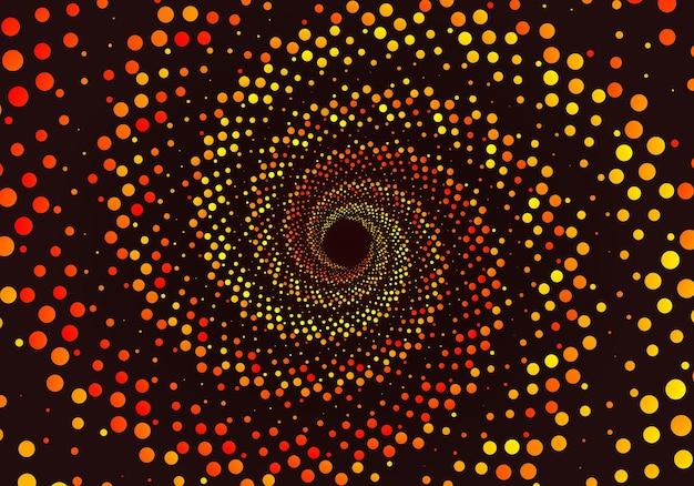 Espiral de ilusão de ótica com fundo pontilhado gradiente geométrico padrão sem emenda