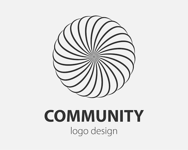 Espiral do logotipo e movimento do redemoinho. elemento de design de círculos de torção de vetor para a empresa.