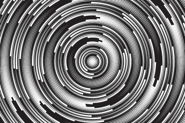 Espiral hipnótica vetor abstrato