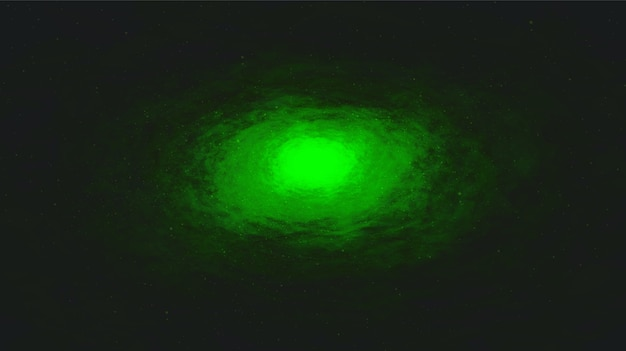 Espiral vector luz verde via láctea no fundo da galáxia