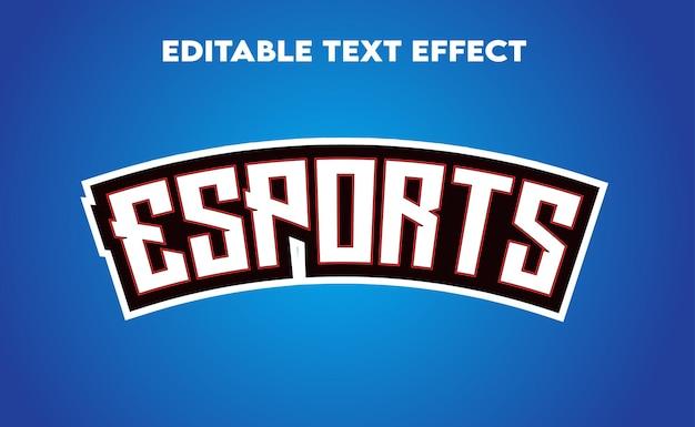 Esport efeito de texto editável