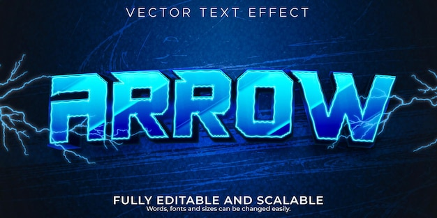 Esport efeito de texto, jogo editável e estilo de texto neon