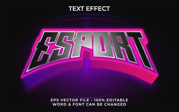 Esport estilo de efeito de texto efeito de texto editável
