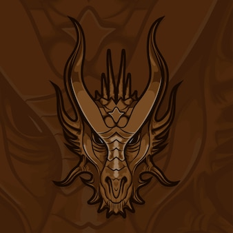 Esport gamer logo dragon