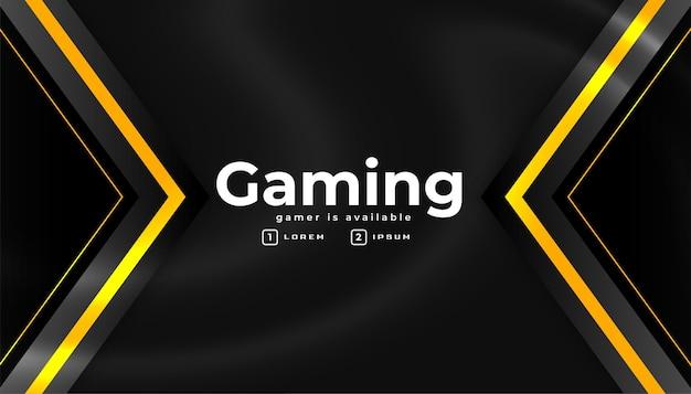 Esport gaming banner em estilo geométrico