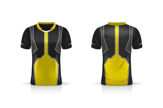 Esport gaming t shirt jersey isolado no branco