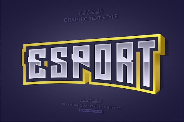 Esport gaming team estilo de fonte de efeito de texto editável em 3d