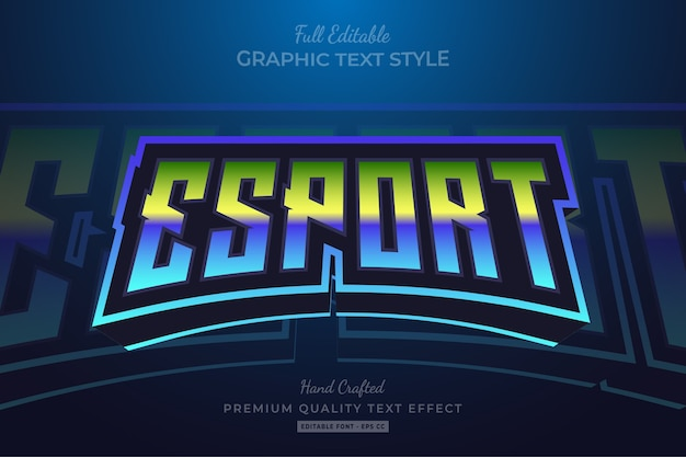 Esport gradient editable premium text style effect