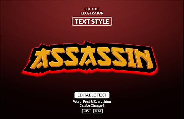 Esport japan gaming style, efeito de texto editável