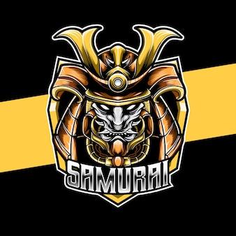 Esport logo heaad knight samurai
