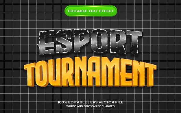 Esport torneio estilo de modelo de efeito de texto