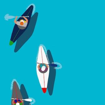 Esporte aquático caiaque