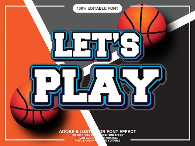 Esporte bold (realce) editável efeito de fonte de tipografia