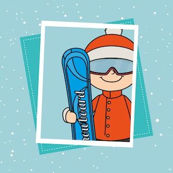 Esporte de inverno e acessórios de desgaste