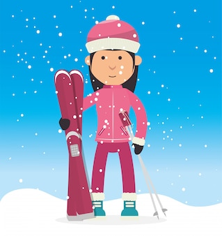 Esporte de inverno e moda