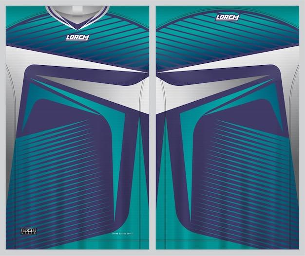 Esporte de jersey, modelo de vista frontal e traseira de uniforme de futebol