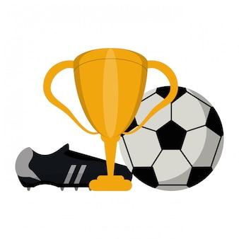 Esporte de jogo de futebol