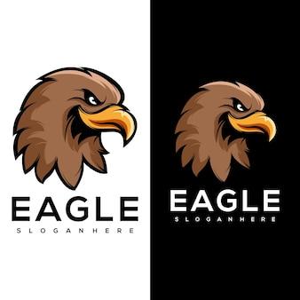 Esporte de logotipo de águia de animais