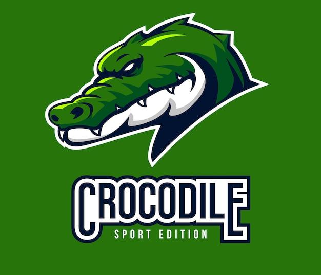 Esporte de logotipo de crocodilo para mascote