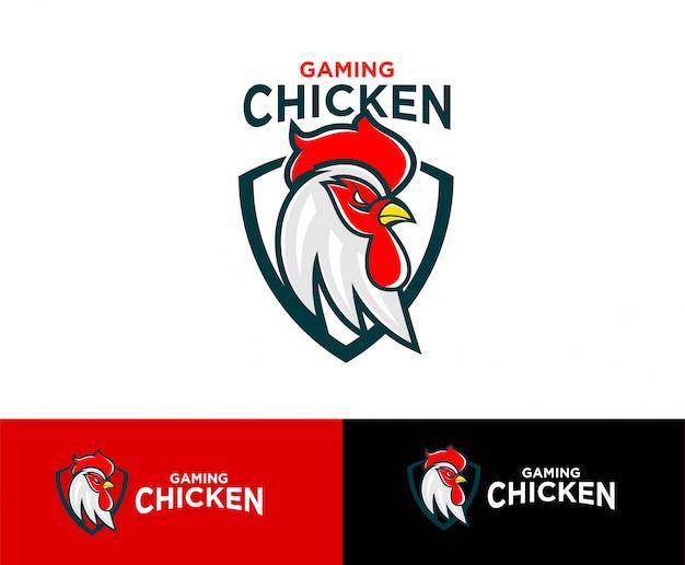 Esporte de logotipo de frango de jogo