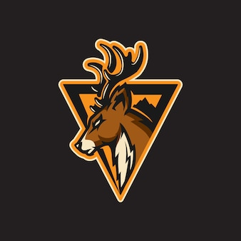 Esporte de logotipo de veado