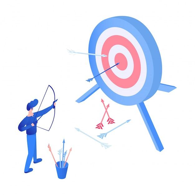 Esporte de tiro com arco isométrico